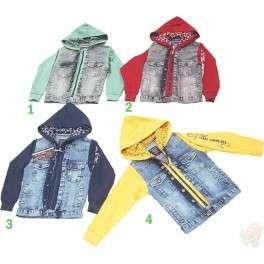 Džinsiniai švarkeliai-džemperiai berniukams