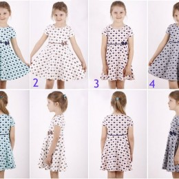 Trikotažinės suknelės mergaitei