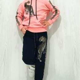 Stilingi komplektukai mergaitėms su leopardu