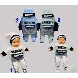 Komplektukai kudikiams su kepure