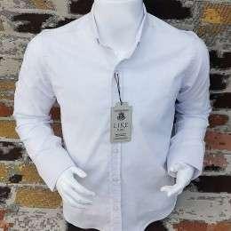 Baltos spalvos marškiniai berniukams