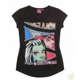 Palaidinės be rankovių Monster High juodos spalvos